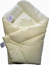 KP Rychlozavinovačka bavlna potisk - žluto-béžová kostička 80x80 cm