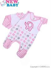 New Baby Dvojdielna dojčenská súprava Sloník ružová- vel. 68
