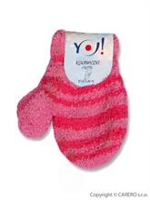 YO Company Dojčenské rukavice 4 - 6 m - malinové