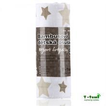 T-Tomi Bambusová osuška 100x80 - béžová hviezdička