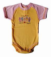 Prince Oliver Scamp dojčenské body - krátky rukáv - oranžovo-ružové