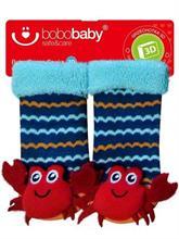 BOBAS Dojčenské ponožky s hrkálkou - krab - vel. 3 - 6 m