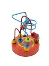 Baby Mix Drevený edukačný labyrint - oranžový