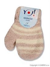 YO Company Dojčenské rukavice 4 - 6 m - béžové