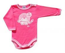 Dojčenské body SCAMP dlhý rukáv DO TOHO ružová - vel. 68