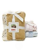 BOBAS Dojčenská deka so saténovým okrajom - béžová