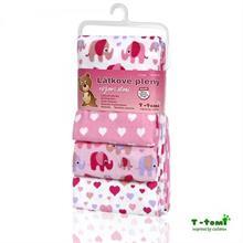 T-tomi Látkové plienky 4ks - ružový sloník