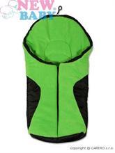 NEW BABY Zimný fusak do autosedačky Fleece Car Green