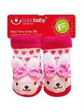 BOBAS Dojčenské ponožky s hrkálkou - zajačik - vel. 3 - 6 m