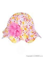 YO COMPANY Dojčenský klobúčik s kytičkou PALOMA FRUIT- vel. 86
