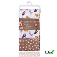 T-TOMI Látkové osušky 2ks - béžové opičky