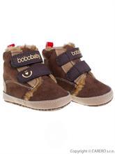 BOBO BABY Dojčenské zimné topánky 3-6 m - tmavo hnedé