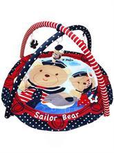BABY MIX Hracia deka s hrazdou Medvedík námorníček