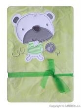 Koala Detská deka Srdiečka Medvedík - zelená
