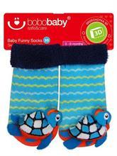 BOBAS Dojčenské ponožky s hrkálkou - korytnačka - vel. 3 - 6 m