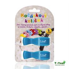 T-Tomi Kočárkový kolíček 2ks - modrý