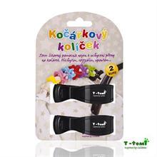 T-Tomi Kočárkový kolíček 2ks - černý
