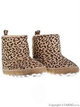 BOBO BABY Kojenecké zimní botičky 6-9 m - hnědý leopardík