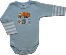 Prince Oliver Scamp Body pro miminko sv. modré-rukáv pruh POPELÁŘ - vel. 62