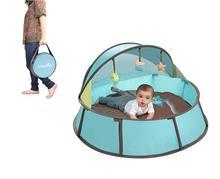Babymoov Babyni Premium 3 v 1 Blue/Taupe postýlka, stan a hrací centrum