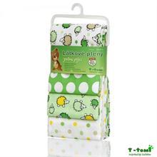 T-tomi Látkové plenky 4ks - zelení ježci