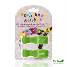 T-Tomi Kočárkový kolíček 2ks - zelený