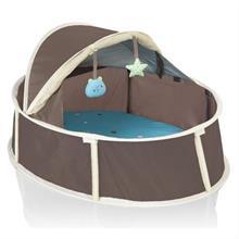 Babymoov Babyni 2 v 1 Small Taupe/Blue skládací postýlka a hrací centrum