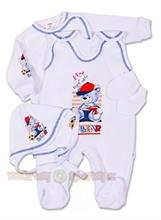 4D kojenecká soupravička vel. 62 - bílá s medvídkem