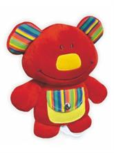 Baby Mix Hrací medvídek se šustivými oušky a kapsičkou