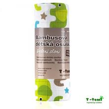 T-Tomi Bambusová osuška 100x80 - zelení sloni