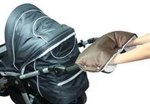 Emitex rukávník ke kočárku - hnědý + béžový