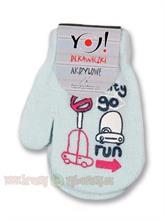 Yo zimní kojenecké rukavičky světle šedé