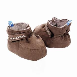 Luxusní kojenecké botičky WallaBoo 6-12měsíců - hnědé