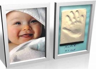BABY OTISK-dvojrámeček-barva bílá