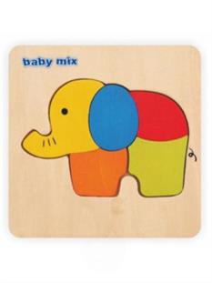 Baby Mix Drevené puzzle - Slon