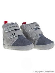BOBO BABY Dojčenské zimné topánky 6-9 m - sivé