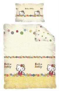Obliečky do detskej postieľky licenčné - Hello Kitty