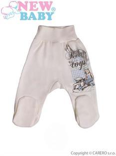 New Baby Dojčenské polodupačky Retro béžové - vel. 68