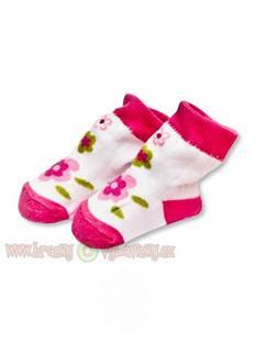 BOBAS dojčenské ponožky froté 0 - 3 m - kvetinky