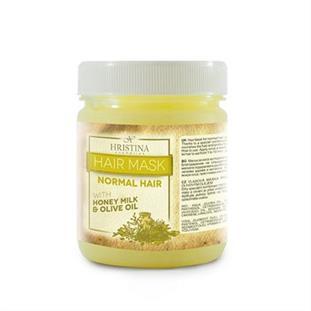 HRISTINA Vlasová maska pre NORMÁLNE vlasy s medom, mliekom a olivovým olejom 200 ML