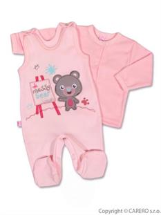 KOALA 2D Dojčenská súpravička BERNI ružový - vel. 62