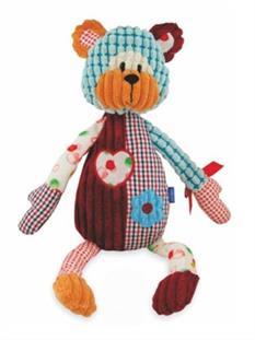 Baby Mix Handrový medvedík s hrkálkou