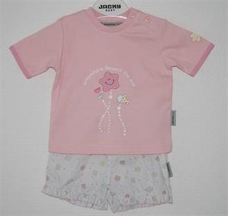 Jacky Baby komplet tričko ružovej šortky s morskými zvieratkami