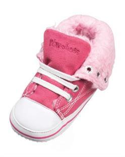 Playshoes Zimné dojčenské tenisky s kožúškom PINK - vel. 16