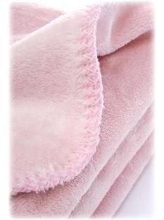 SENSILLO Plyšová dojčenská deka 80x100 cm - ROSE