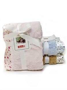 BOBAS Dojčenská deka so saténovým okrajom - ružová