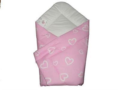 Rýchlozavinovačka bavlna potlač 85x85 cm - PINK HEART