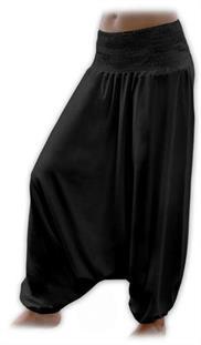 Turecké nohavice nielen pre tehotné - čierna