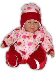Baby Girl Red panenka miminko pro holčičky