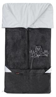 Fusak 2 v 1 Emitex fleece antracit / jersey holubia šeď